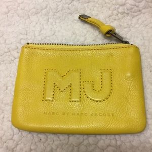 Marc by Marc Jacobs yellow coin and card holder